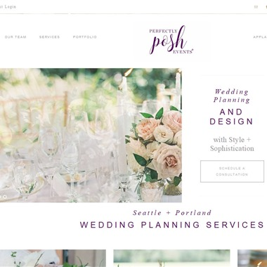 Perfectly Posh Events wedding vendor preview