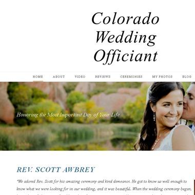 Rev. Scott Awbrey  wedding vendor preview