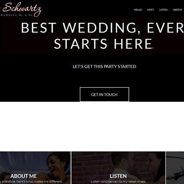 Tony Schwartz Mc DJ wedding vendor preview