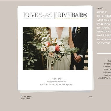 Prive Bars wedding vendor preview