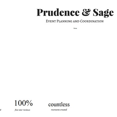 Prudence & Sage Events wedding vendor preview