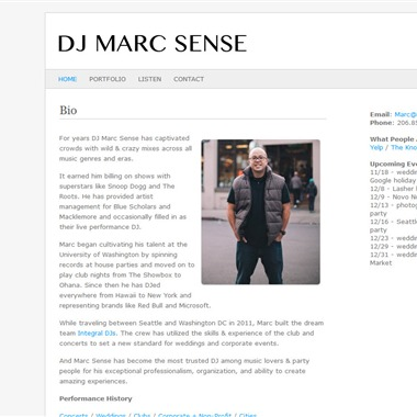 DJ Marc Sense wedding vendor preview