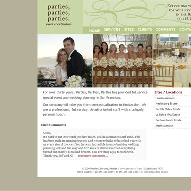 Parties, Parties, Parties wedding vendor preview