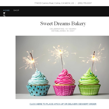 Sweet Dreams Bakery wedding vendor preview