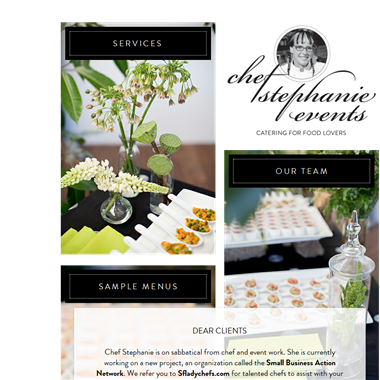 Chef Stephanie wedding vendor preview