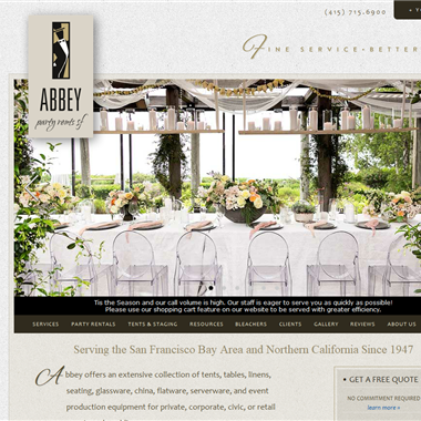 Abbey Party Rents SF wedding vendor preview