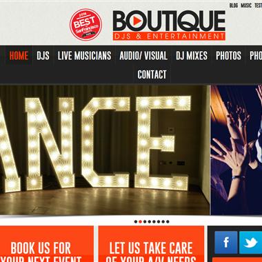 Boutique DJs wedding vendor preview