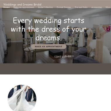 Weddings and Dreams wedding vendor preview