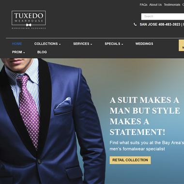 Tuxedo Wearhouse wedding vendor preview