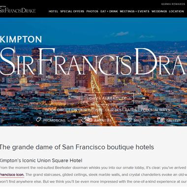 Sir Francis Drake Hotel wedding vendor preview