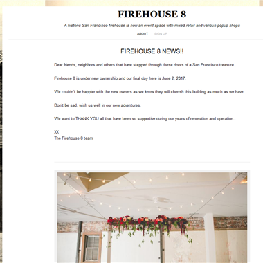 Firehouse 8 wedding vendor preview