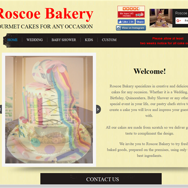 Roscoe Bakery wedding vendor preview