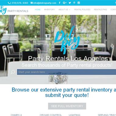Del Rey Party Rentals wedding vendor preview