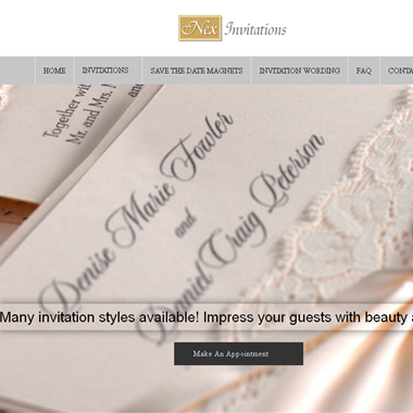 Nex Invitations wedding vendor preview