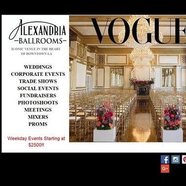 Alexandria Ballrooms wedding vendor preview