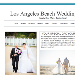 Los Angeles Beach Weddings photo