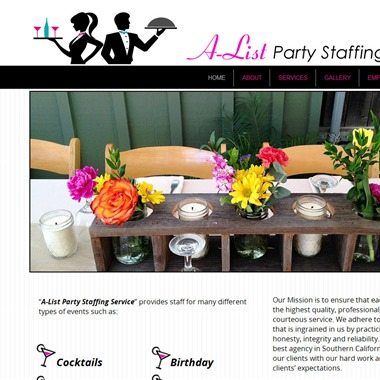 A-List Party Staffing wedding vendor preview