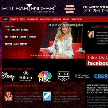 Hot Bartenders LA wedding vendor preview