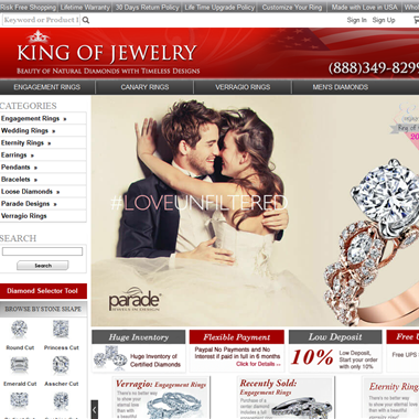 King of Jewelry wedding vendor preview