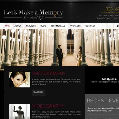 Let's Make a Memory wedding vendor preview
