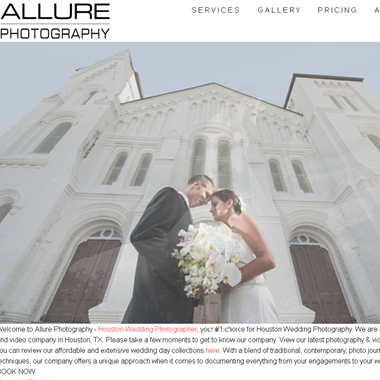 Allure Photography wedding vendor preview