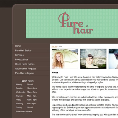 Pure Hair wedding vendor preview
