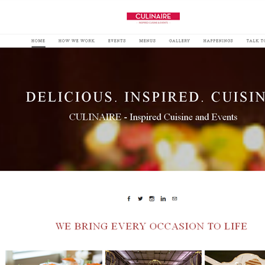 Culinaire-Gourmet Food Catering wedding vendor preview