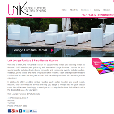 Unik Rentals wedding vendor preview