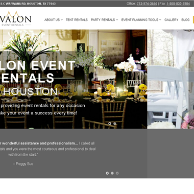 Avalon Event Rentals wedding vendor preview