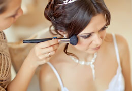 wedding hair and make-up photo